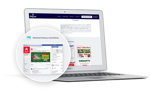 Case Study - Auchan promotes brands and maximises its promotional ROI with Drive Win